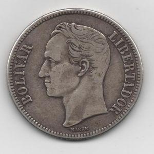 Venezuela, 5 bolívares, 1936. 485797478