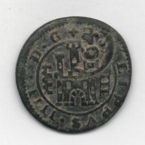 4 Mrs de Felipe IV (Segovia, 1622) con resello VI/1641 de Burgos 492876181