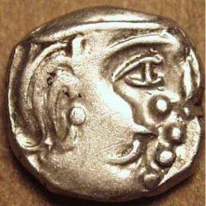 India - Kalachuris de Mahismati-Krishnaraja, Rupaka o Dracma de plata (550-575) 493522802