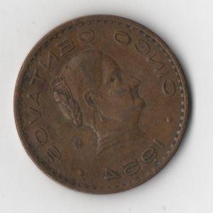 México, 5 Centavos Josefa Ortiz, año 1954 494886211