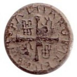 Botón con representación de Medio Real de plata de Felipe V 495863358