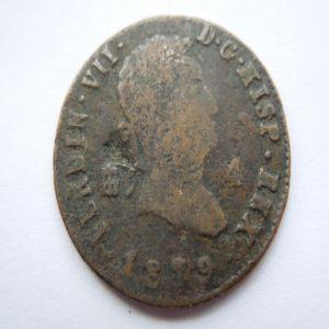 4 MARAVEDIS FERNANDO VII ¿1879? error o falsa 540688483