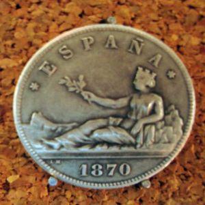 5 pesetas 1870 549701778