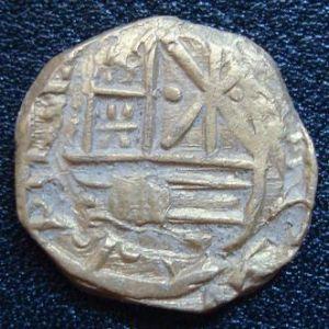 1 Escudo de Felipe V (1700-1746)- ¿Falsa de época o acuñación obsidional indigena? 557437515
