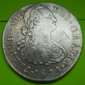 8 Reales de Fernando VII (POPAYÁN, 1814 JF) [WM nº 9121] 572123649