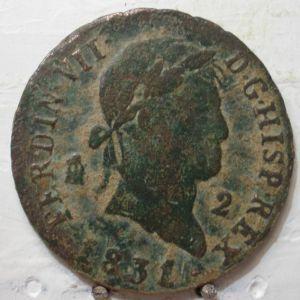 2 maravedies de Fernando VII (Segovia, 1831) 572466663