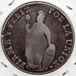 8 Reales Republica Peruana 1834 586415543