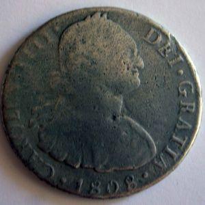 8 Reales de Carlos IV, ceca Potosí, año 1808 (Leyenda Carlos III) 587903887