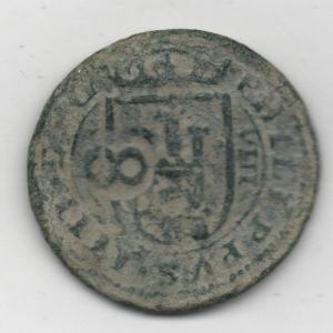 8 Mrs. de Felipe IV (Segovia, 1623) con resellos 8/1651-2 y anagrama IIII de 1658-9 608114025