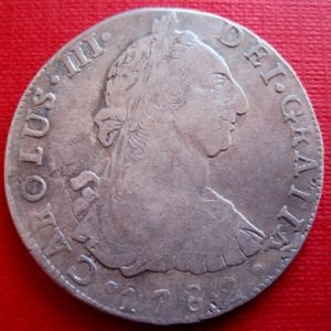 8 Reales de Carlos III (Potosí, 1782) ¿falsa de época, reproduccíon moderna? 629264003