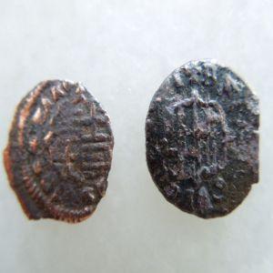 2 piezas de Dinero de Carlos III el pretendiente 633453582