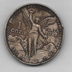 1 Onza de plata pura de México (1991) 645827346