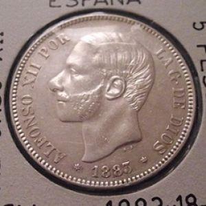 VARIANTE 5 pesetas 1883 673451604