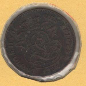 BÉGICA - 2 Cent del rey Leopoldo II (leyenda en francés) 675942302