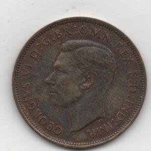 Inglaterra, 1 penique de Jorge VI, 1947 677713467