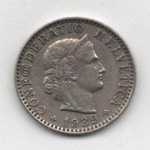 20 Rappen de Suiza, 1939  686668319