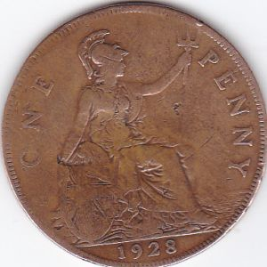 Reino Unido. 1 penique, 1928-1936 691362493