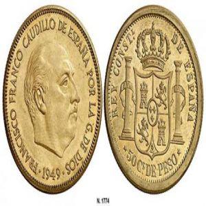 prueba 50 centavos pesos 1949 692702561