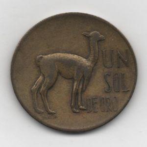 Perú, 1 Sol Oro, 1968 71434535