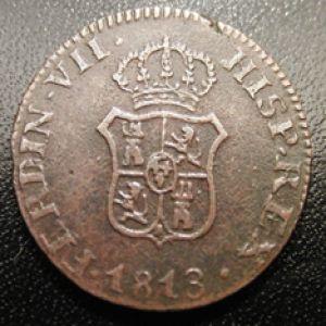 1 ochavo Fernando VII 1813 Princip Cathal. 729064529
