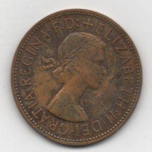 Gran Bretaña - 1 Penny de Elizabeth II (London, 1961) 740565444