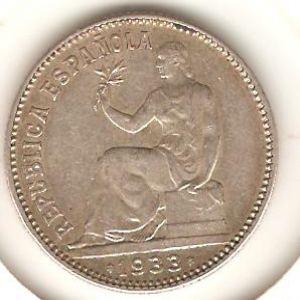 1 peseta 1933 / 3-4  girado 750253972