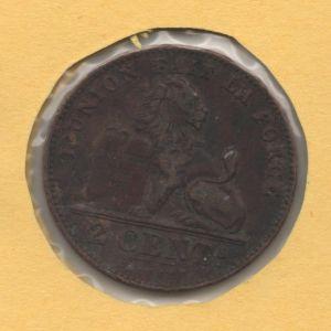 BÉGICA - 2 Cent del rey Leopoldo II (leyenda en francés) 751757128