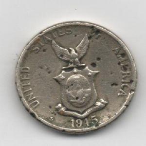 EUA (Filipinas), five centavos, 1945. 768184326