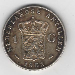 Antillas Holandesas, 1 gulden, 1952. 77332717
