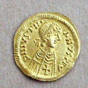 Tremis visigodo a nombre de Justiniano I 773429801