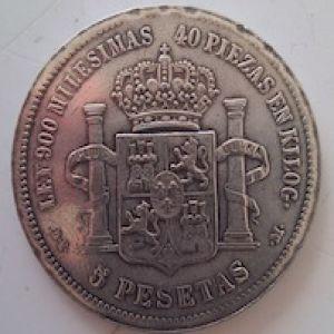 Un lote de monedas falsas, duros, dollares, pesos mexicanos, etc 778346921