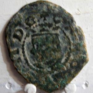 Dinero de Carlos II (Valencia, 1665-1700) leyendas repetidas 784194816