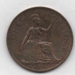 Inglaterra, 1 penique de Jorge VI, 1947 80685511