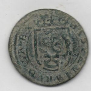 8 Mrs. de Felipe IV (Segovia, 1623) con resellos 8/1651-2 y anagrama IIII de 1658-9 808312112