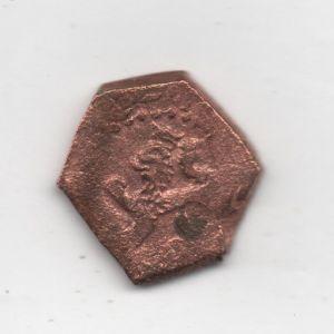moneda dorada con león 824905781