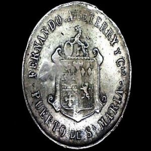FICHA OBSEQUIO DEL COGNAC TERRY, 1910 830179194
