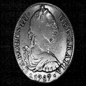 8 Reales de Carlos III (México, 1787) con resellos chinos 849361673