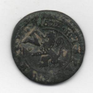 4 Mrs de Felipe IV (Segovia, 1622) con resello VI/1641 de Burgos 85147048