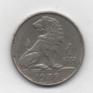 1 Franco de Bélgica de 1939 913363271
