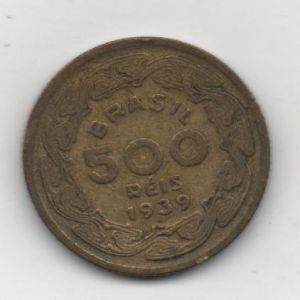 Brasil, 500 Réis, 1939 913928188