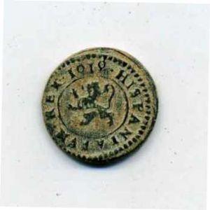 2 Maravedíes de Felipe III (Segovia, 1619) acuñación hidráulica 936930080