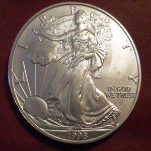 USA- 1998, 1 Dolar de plata 1 OZ  Liberty (águila) 944131873