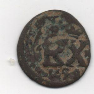 Resello al VI/1641-2 y el monograma PHILIPPVS/REX a II de 1658 952966249