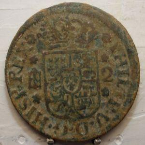 2 Maravedíes de Felipe V (Segovia, 1744) 96431406