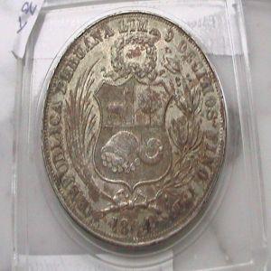 """Perú, 1 Sol """"Derteano"""", 1864. 968335385"""