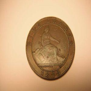 """10 CTS DE 1870 FALSA DE EPOCA QUE TODAVIA HOY """"CUELA"""" 971654144"""