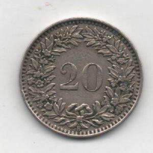 20 Rappen de Suiza, 1939  978998049