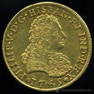 8 Escudos de Felipe V (México, 1745) 993464565