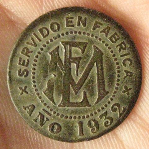 Vale 1 Pan, Luis Mangas Ferrera, Barcarrota (Badajos / Badajoz, 1932) con Resello ANTONIO 130102173