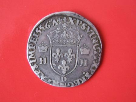 Reino de Francia, Teston, Henri II (Lyon)1556. 130587836
